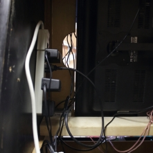 Power Strip Mounted in cabinet
