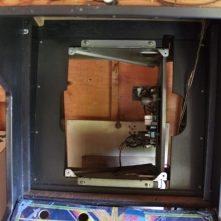 Cabinet with CRT removed.